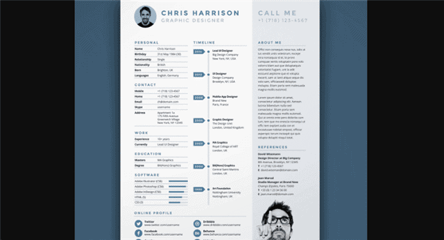 Modern and Creative InDesign Resume Template
