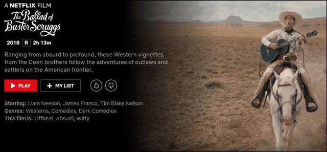 best-comedies-on-netflix-buster-scruggs