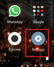 settings app in android