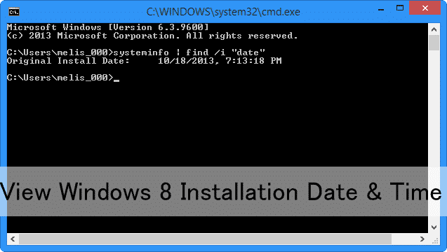 view-windows-8-installation-date-time
