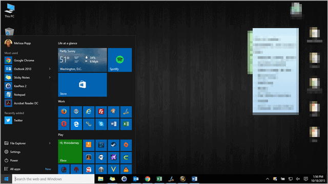How to pin universal apps to the desktop in windows 10.