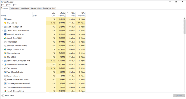 shortcut to task manager windows 10