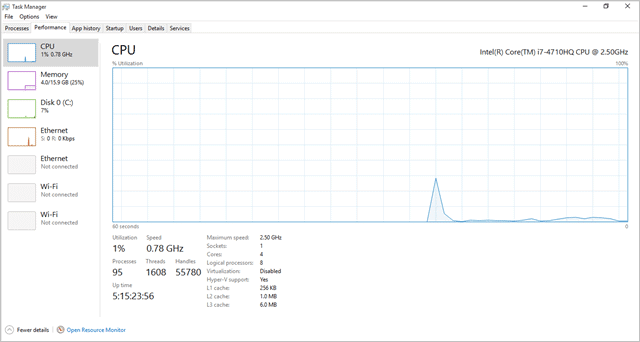 windows update cpu usage