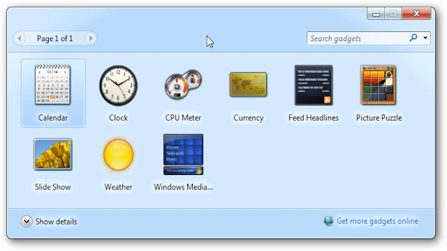 Get Windows 7 Desktop Gadgets in Windows 8 with 8GadgetPack