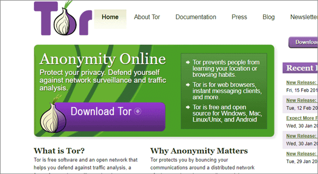 tor anonymous web browser