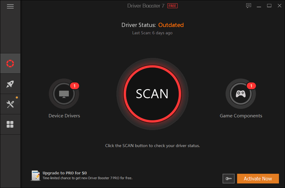 Scan system using Driver Booster tool when steam won't open