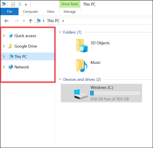 Unpin to remove onedrive from file explorer