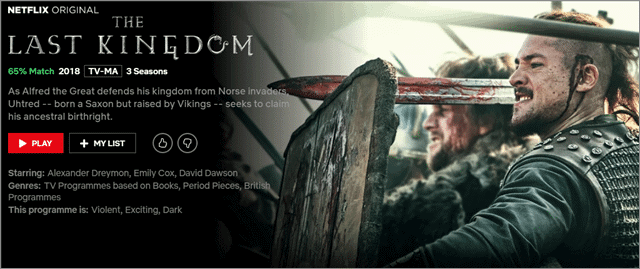 the last kingdom bbc shows on netflix