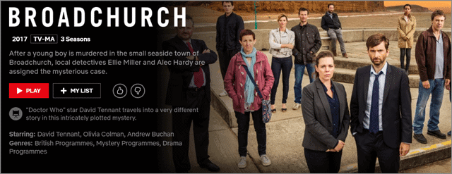 broadchurch bbc shows on netflix