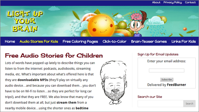 light up your brain best audio stories for children