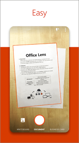 microsoft office lens receipt scanner app