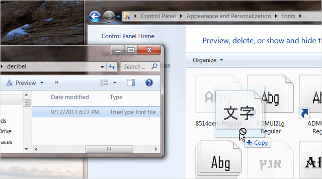 how to put new font into word