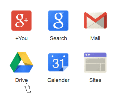 clicking-drive-in-google