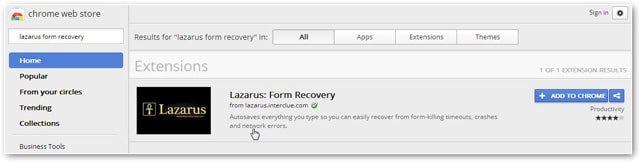 lazarus-in-chrome-store
