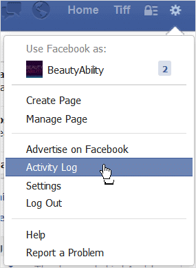 clicking-activity-log-in-facebook