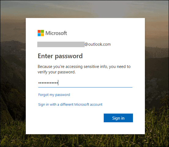 sign in gain to delete microsoft account