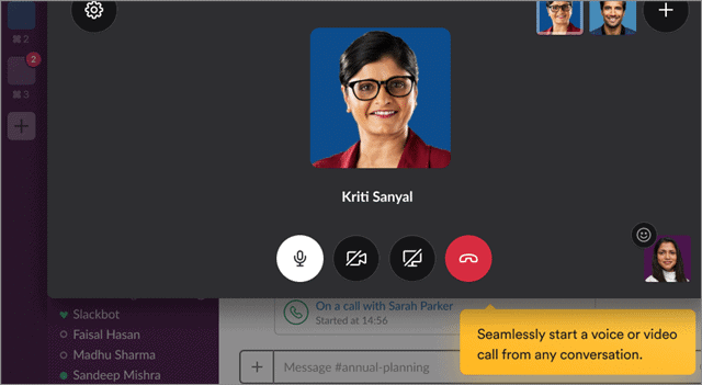 slack conference call android