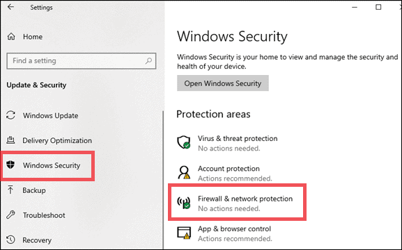 windows security allow Chrome to access Network in Firewall Settings