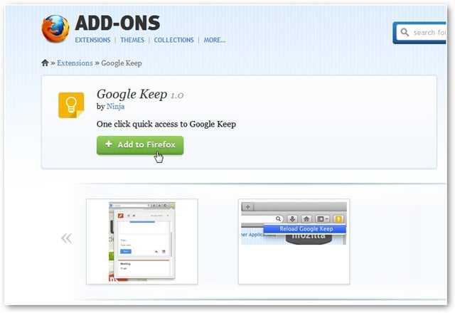 How to Use the Google Keep Firefox Add-on