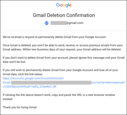 confirm gmail deletion for how to delete gmail account