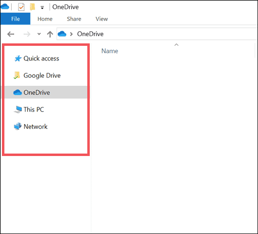pin OneDrive in File Explorer