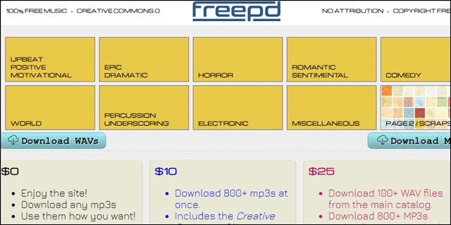 freepd for creative commons music