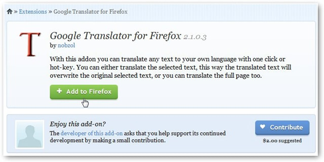 Use Google Translate in Firefox to Read the Web No Matter Where You Go