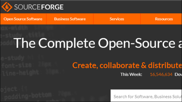 sourceforge-free-software-download-websites