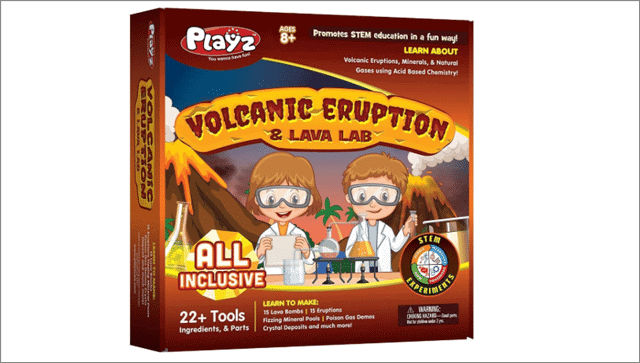 volcanic eruption science toys for girls