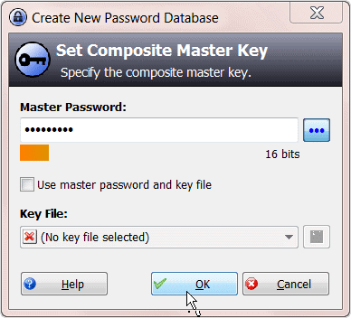 setting-the-master-key-in-keepass