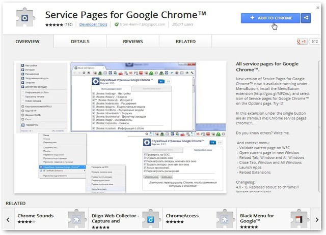 Chrome Service Pages Gives You One Click Access to Everything