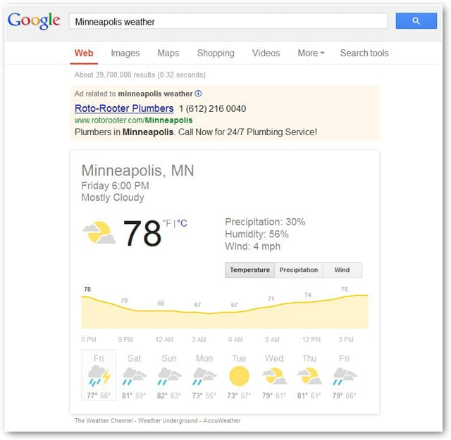 viewing-the-current-weather-in-google