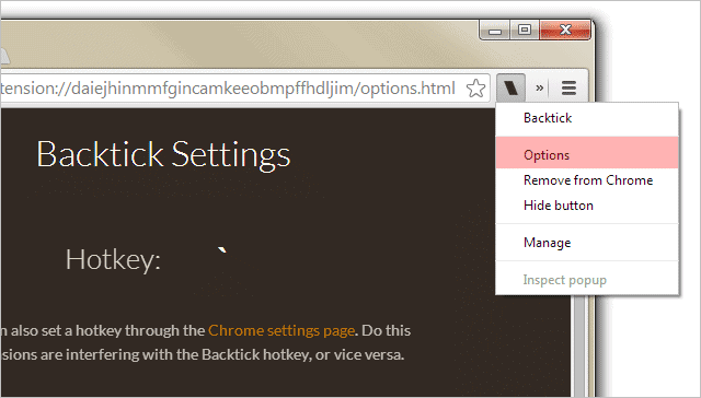Backtick-options-in-Chrome