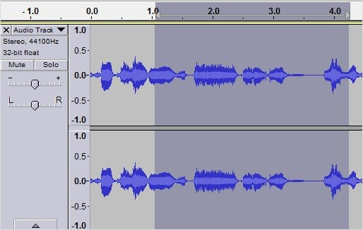 selecting-audio-for-deletion-in-audacity