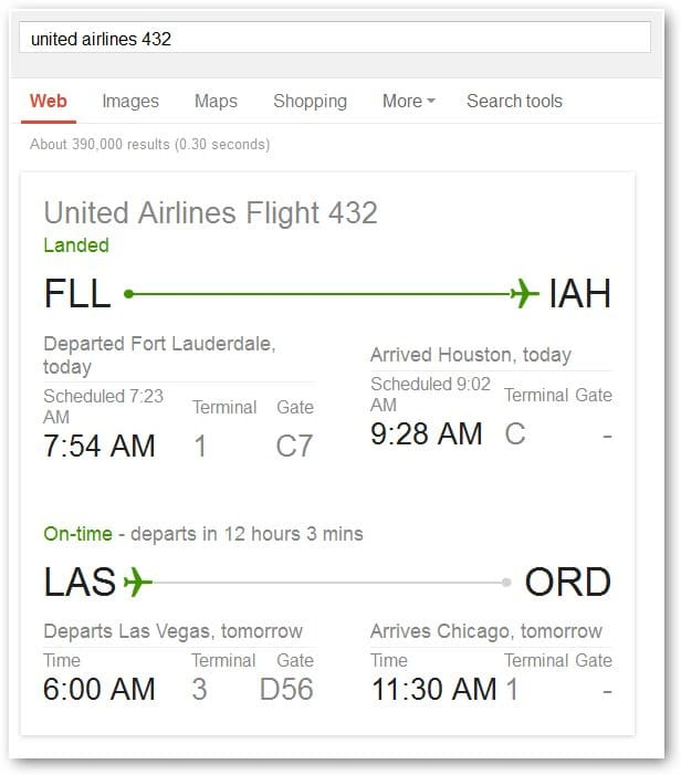 viewing-a-flight-status-in-google