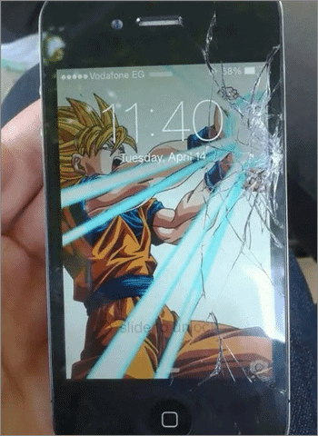diy for cracked screen in smartphone