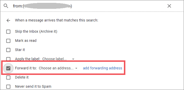 forward selected emails in Gmail
