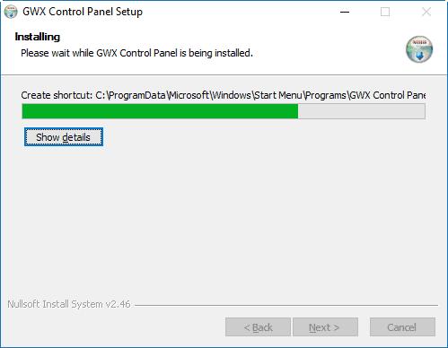 Installing GWX Control Panel