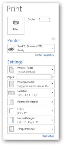 How to Change the Default Printer Settings in Office 365