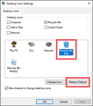 how to restore recycle bin