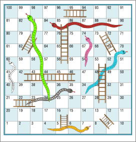 2 snakes and ladders printable board games