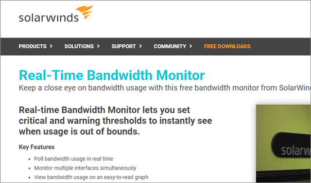 solarwinds network traffic monitor