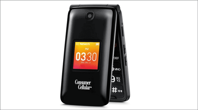 Consumer Cellular Alcatel Go Flip phones for seniors and elderly