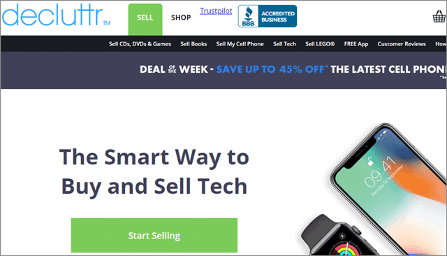 decluttr-website-interface-sell-used-tech-stuff