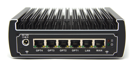 protectli FW6A 6 Port Intel Celeron network firewall