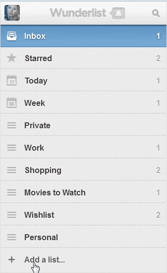 sidebar-options-in-wunderlist