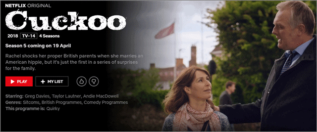 cuckoo best bbc shows on netflix