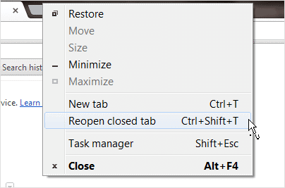 recently-closed-tab -option-in-chrome