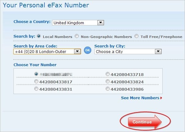 selecting-a-fax-number