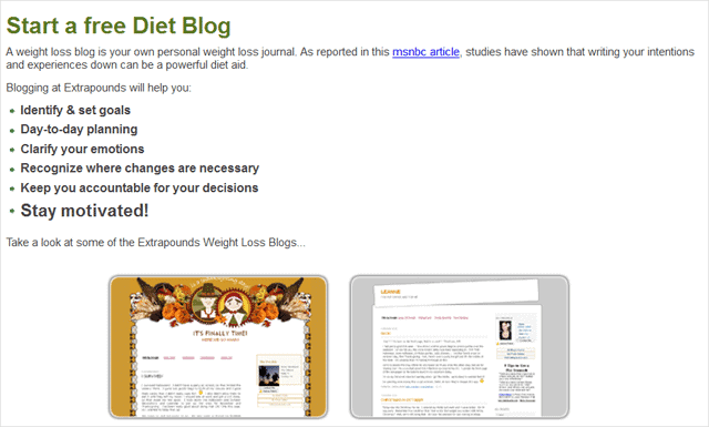 start-a-free-diet-blog-page-on-extrapounds